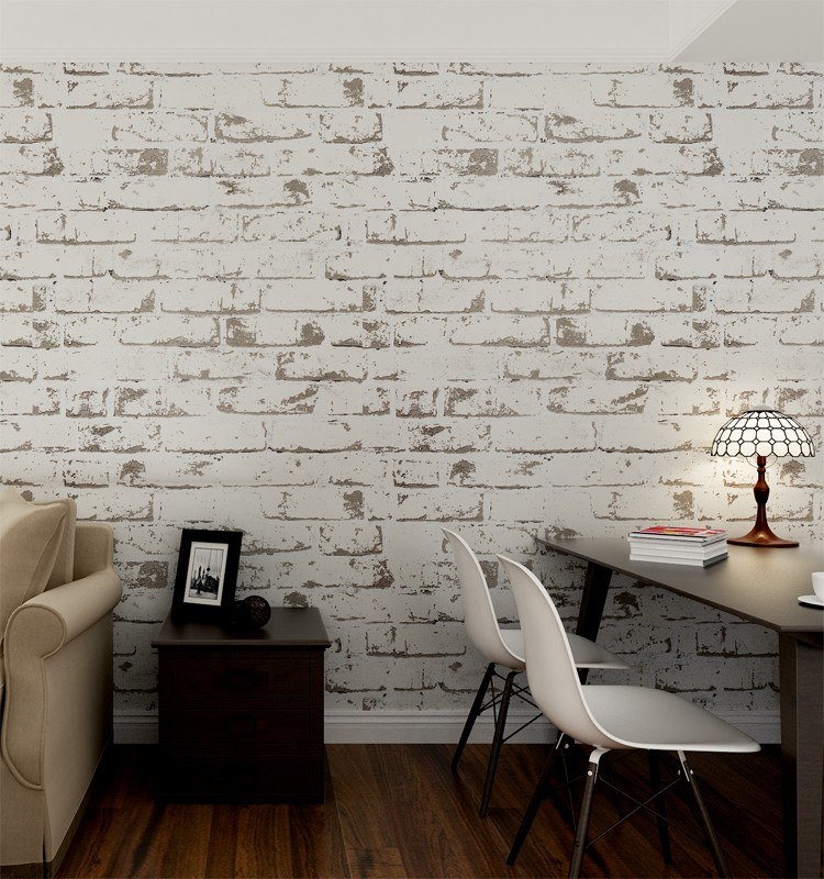 Buy Online White Brick Effect Wall Covering Wallpaper Buy White Brick Wallpaper Brick Effect Wall Covering White Wall Covering Product On Alibaba Com