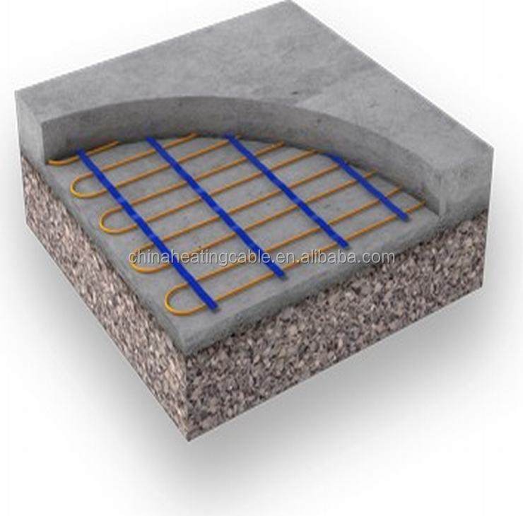 driveway surface snow melting constant wattage heating mat , driveway heating cable