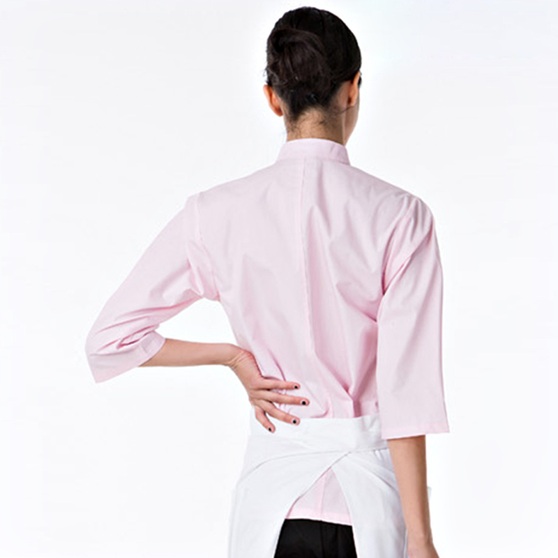 Professional China Manufacturer Kitchen Chef Cookware Restaurant Waiter Waitress Long Sleeve Ladies Chef Coat