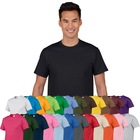 America Style Clothing Men's O Neck High Quality 100% Cotton Plain Blank T Shirts