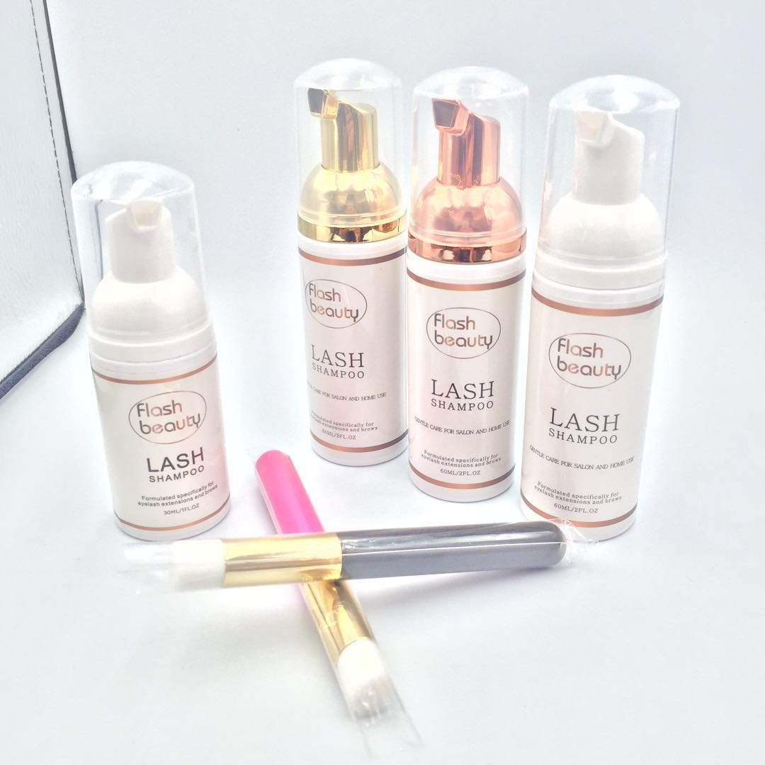 wholesale private label lash cleanser and lash shampoo for lash extensions daily care use