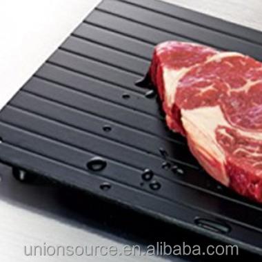 Новинка, большой металлический поднос для быстрого размораживания пищи из обычного алюминия с капельным лотком, подножка для размораживания замороженного мяса