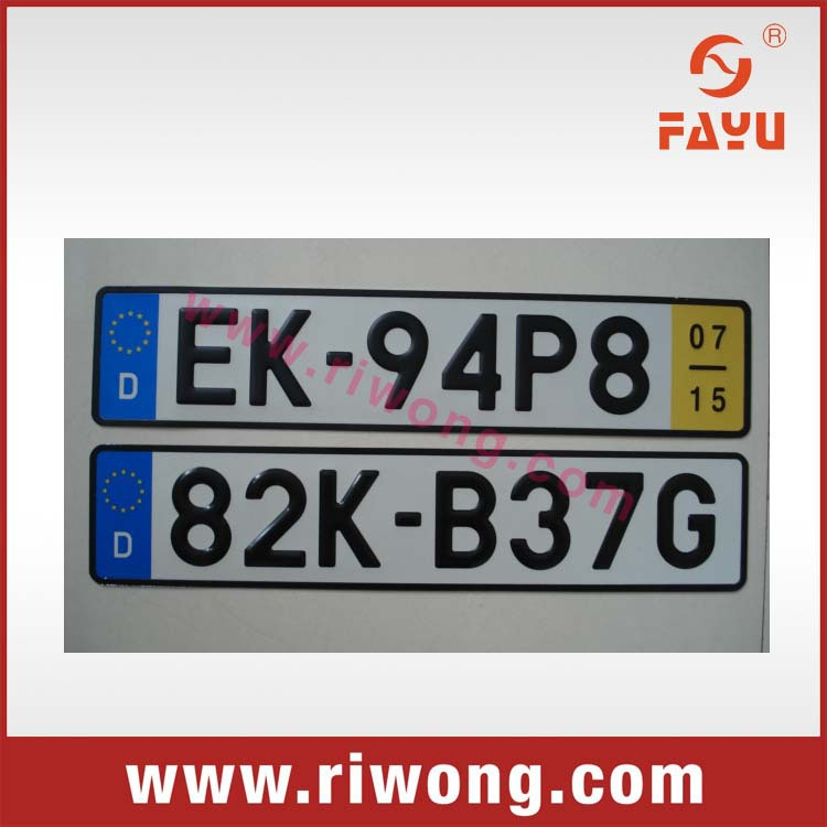 Car License Plate Stickers With Barcode And Hologram Buy Car