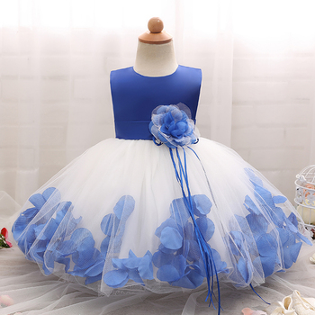 HOT! Baby Girl Party Dress Children Frocks Designs golden Flower Girl Dresses Patterns