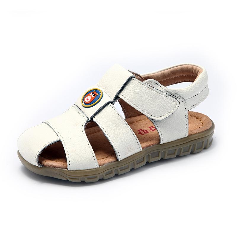Children Sandal 2016 Cowhide leather soft bottom shoes