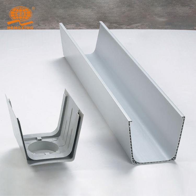 Rectangular plastic PVC Rain Gutters/pvc roof rain gutter