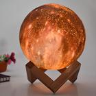 5.9in 15cm 16colors 3D Rechargeable Lunar Mars Jupiter LED Starlight Lava Galaxy custom 3d printing light lamp 3d moon lamp