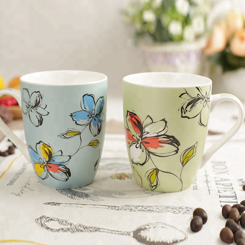 Wholesale Fancy Coffee Cups And Mugs Matt Color Decal Painting Ceramic Mug Cup Buy Matt Black Coffee Mug Ceramic Mug Colorful Plain Mugs Product On Alibaba Com