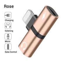 2 в 1 двухпортовый адаптер сплиттер для iPhone X 10 8 7 Plus XS Max XR 8plus разъем для наушников Aux зарядное устройство аудио сплиттер аксессуары(Китай)