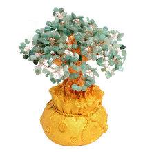 Хрустальное денежное дерево натуральное цитрин денежное дерево приносит богатство удача креативное крыльцо офисное ремесло День рождения...(Китай)