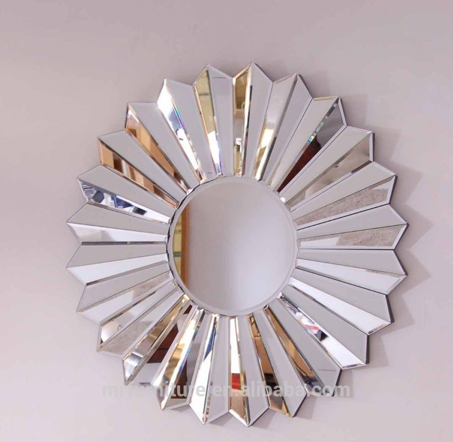 Ven Fan Shape Round Wall Mirror Art Buy Ven Fan Wall Mirror Art 3d Wall Mirror Decorative Round Wall Mirror Art Product On Alibaba Com