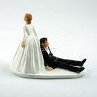 2015 Hot Funny Resin Bride and Groom Runaway Groom Figurines cake topper Wedding Cake