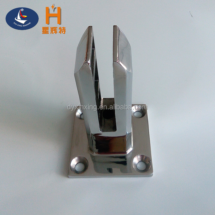 China supplier high quality stainless steel swimming pool fence glass clamp