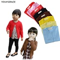 2015 Hot Brand Design Baby Girls Knitted Sweater Trench Girls Spring Autumn Long Sleeve Cardigan Sweater
