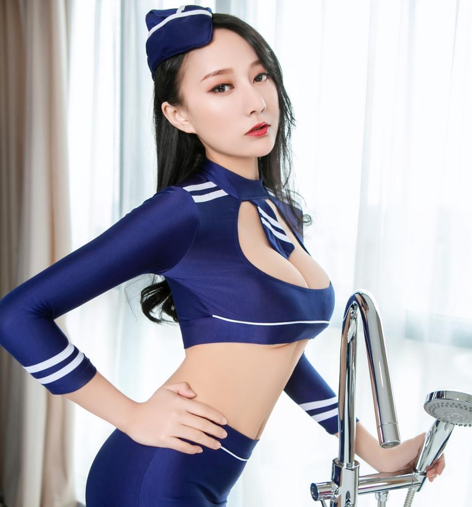 Китайский производитель, оптовая продажа, сексуальные костюмы стюардесс, сексуальное белье, нижнее белье, женский короткий топ, мини-юбка, Стринги и шляпа