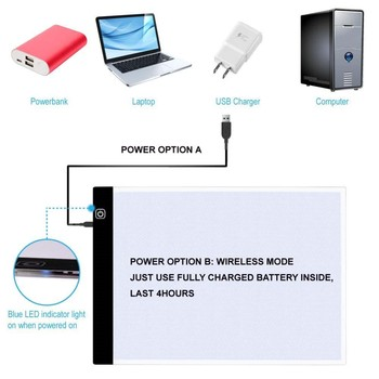 New Design Battery Powered LCD Soft Screen Side writing tablet for graphic with LED Light Tracing Tablet A4 Another side