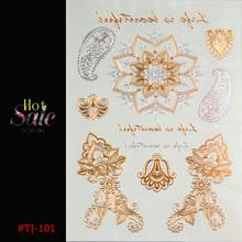 new Body art chain gold tattoo temporary tattoo tatoo flash tattoo metallic tattoo jewelry temporary tattoost stickers