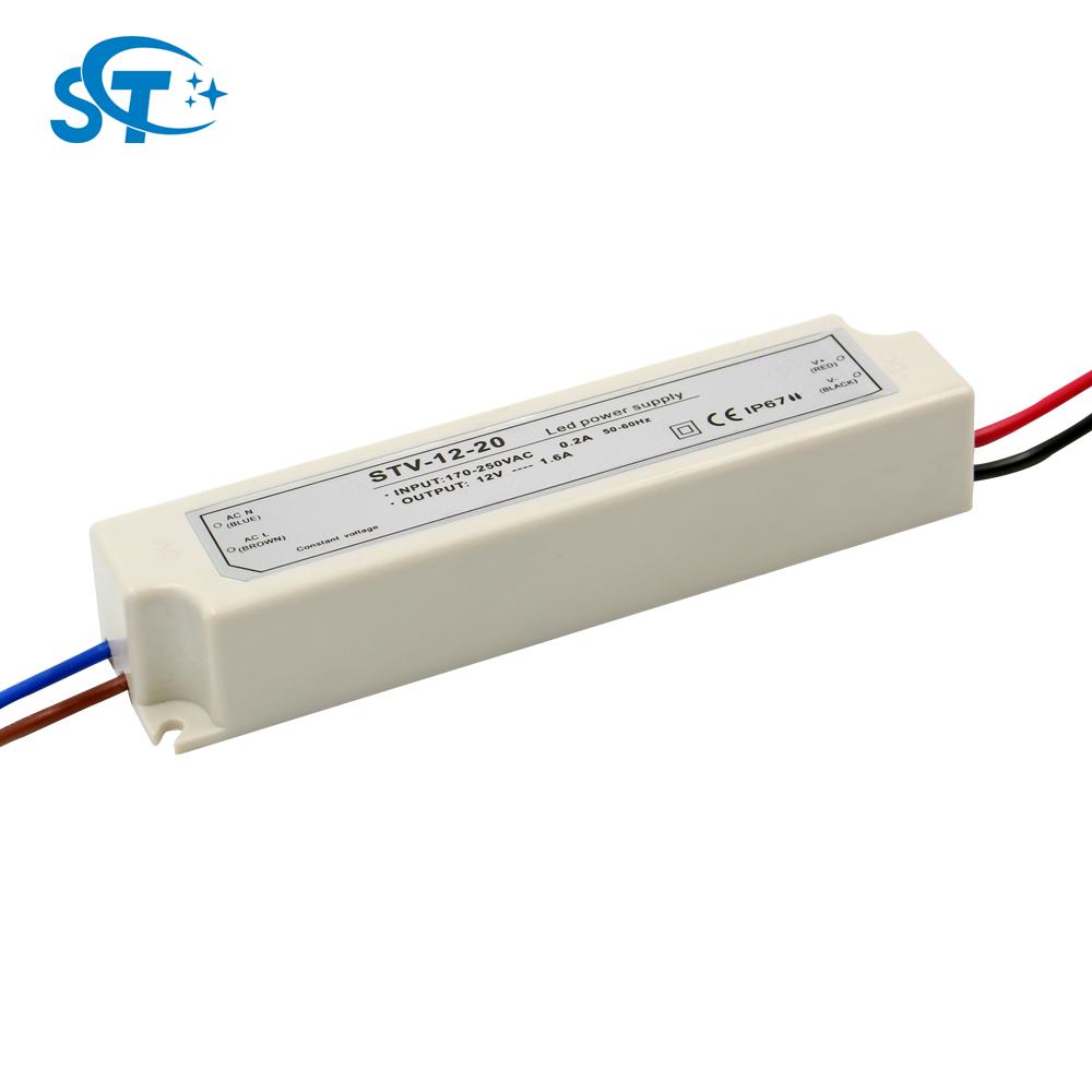 20 Watt AC 220 V zu 12 V LED Netzteil Treiber Elektronischer Transformator RDR
