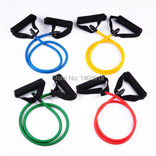 Rubber Exercise Tubing Bands: Free Shipping 2015 Hot Fitness Resistance Bands 5 Color