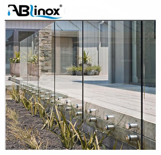 316 прочная стеклянная стойка из нержавеющей стали для конструкции лестничных перил балюстрады