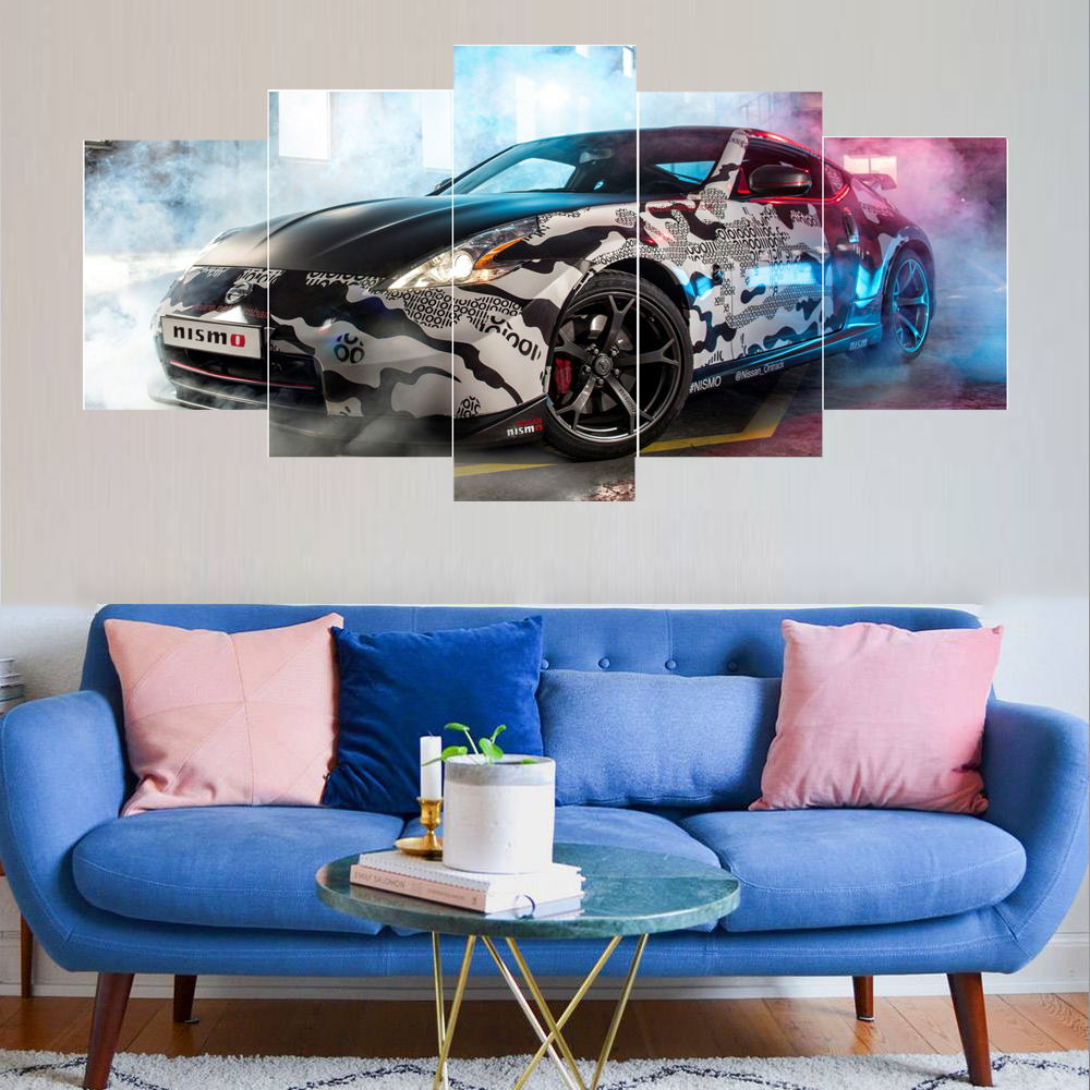 5 Piece Canvas Wall Art Sports Car Canvas Painting Modern Home Decor Wall Art Picture Living Room Decor Art Acrylic Painting Buy 5 Piece Canvas Wall Art Canvas Painting Acrylic Painting Product On