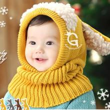 High Quality Toddler Kids Girls Boy Hats Coif Hood Kintted Woolen Scarves Caps Winter Warm Cap