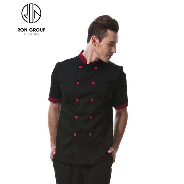 Hot Sale Restaurant Black Long Sleeve Chef Uniform
