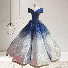 Новинка 2020, роскошное платье для беременных невесты с золотыми и серебряными блестками и градиентом, свадебное платье для беременных(Китай)