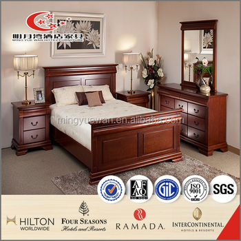 Antique 5 star hotel high quality wooden bedroom furniture