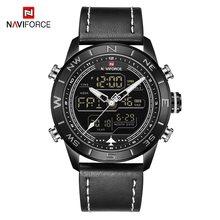 NAVIFORCE мужские часы, люксовый бренд, Мужские Аналоговые Цифровые спортивные часы, модные мужские армейские наручные часы, водонепроницаемые ...(Китай)