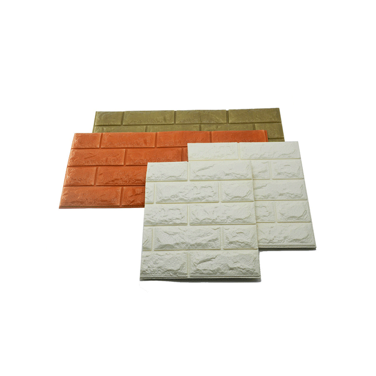 3D-наклейки на стену, тисненый кирпич