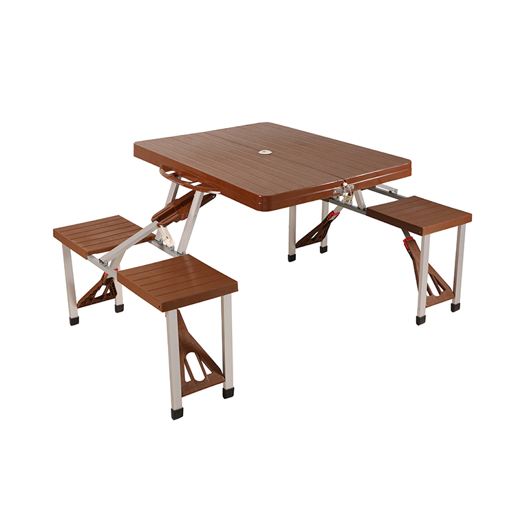 Customized Wooden Plastic Folding Camping Table And Chairs Portable Outdoor Picnic table