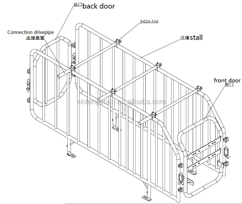 pig farrowing crate for pig breeding and gestation stall ... pig teeth diagram
