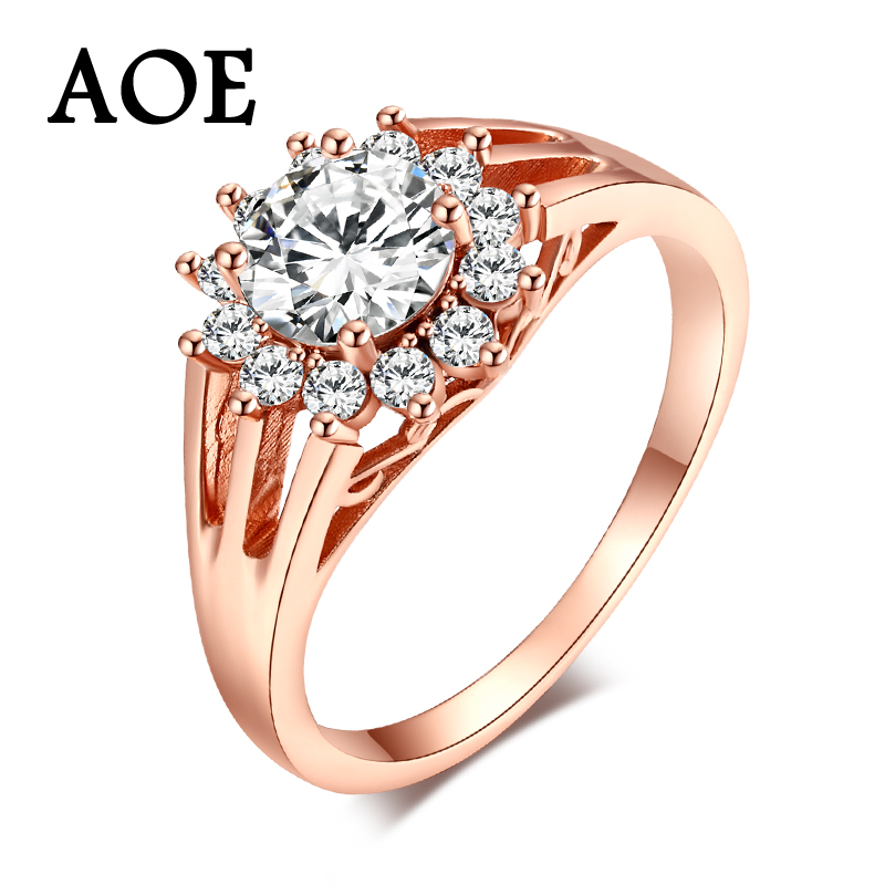 High Quality Fashion Wedding Rings For Women 2017 Rose