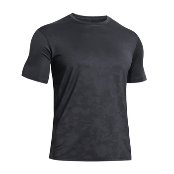 Newest 100% polyester fabric quick dry strech full hand men's t shirts