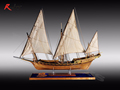 RealTS Classic wooden sailing boat wood scale ship LE REQUIN wood ship model kit 1 48