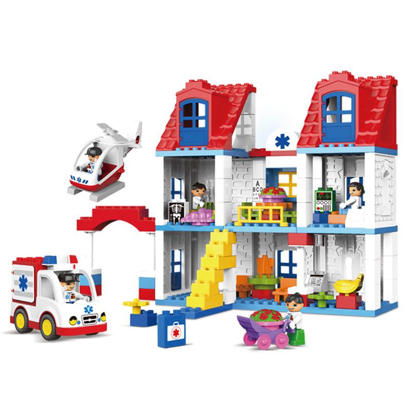 UKLego Duplo 120pcs Hospital Building infirmary rescue block toy.