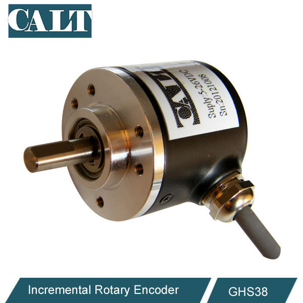 Higher Stability 7-30V Packaging Machinery Solid Shaft Encoder with Stainless Steel Compact Incremental Encoder