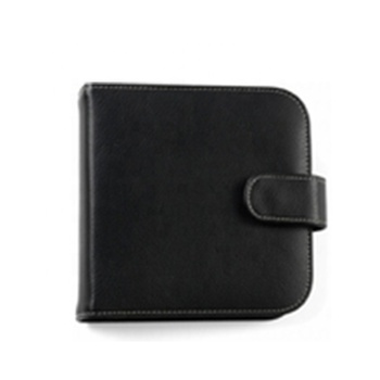 Black PU Leather Empty Disc Dvd Holder Cases Wedding Cd Pouch