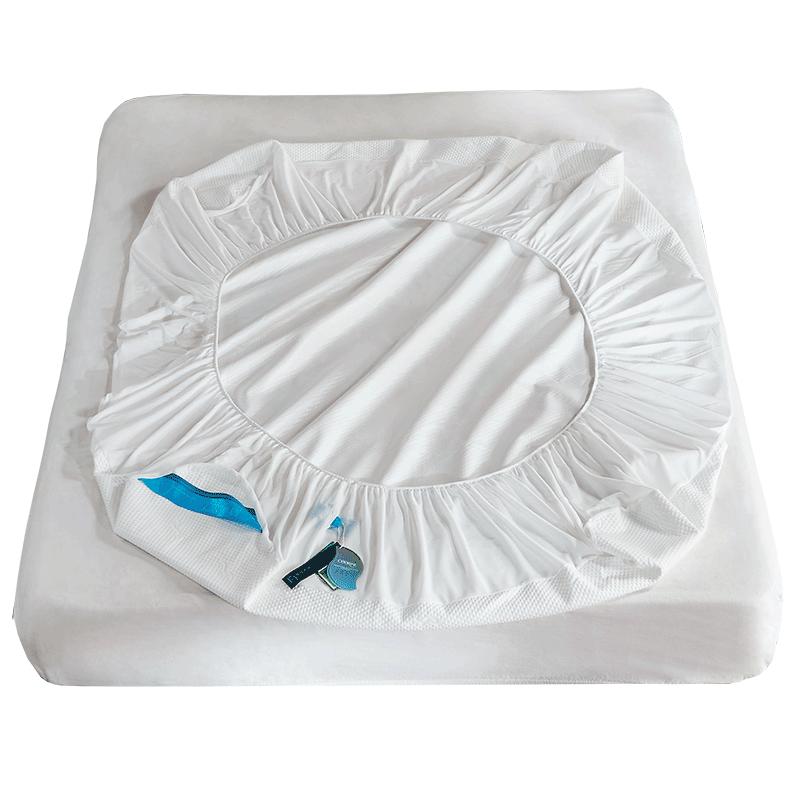 Стеганый белый водонепроницаемый защитный матрас из ТПУ для отеля