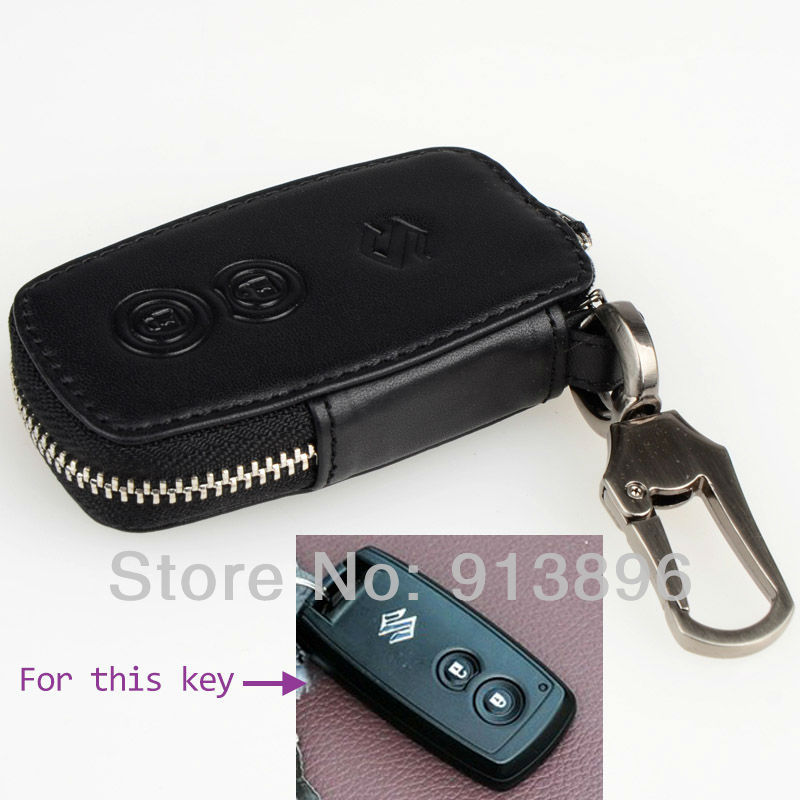 Abs Smart Remote Key Case Ring Shell Holder Cover For: Leather-car-key-fob-cover-for-Suzuki-SX4-Swift-smart-key