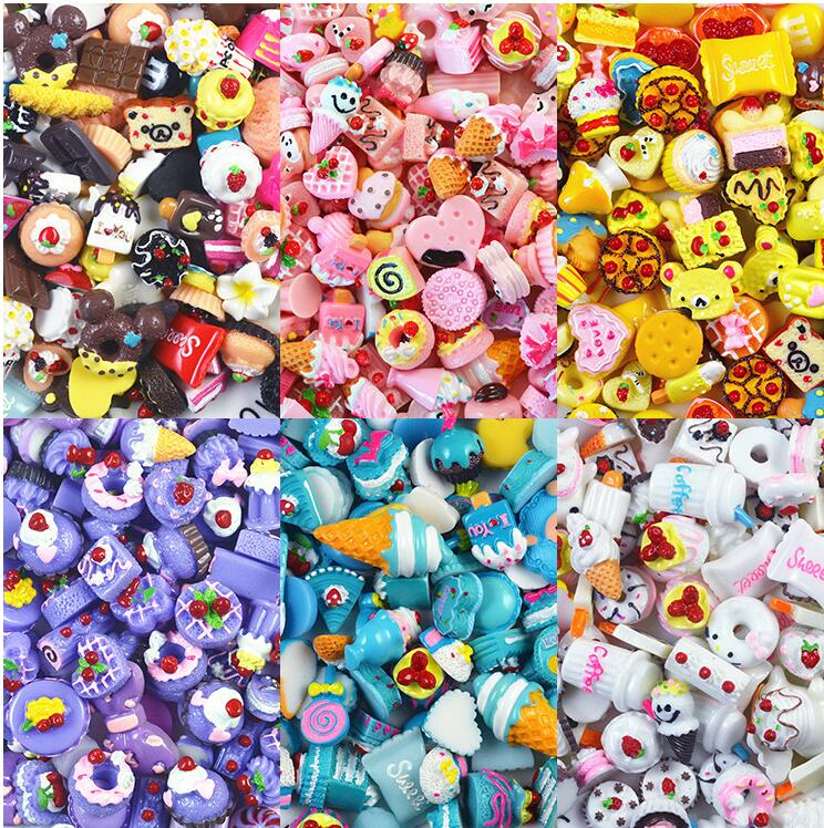 Лидер продаж, милые Подвески в виде леденцов, Мультяшные подвески, имитация смолы, украшения, аксессуары для самодельных слаймов, игрушки ручной работы