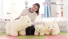 80 cm lovely white polar bear plush toy doll throw pillow gift w5462