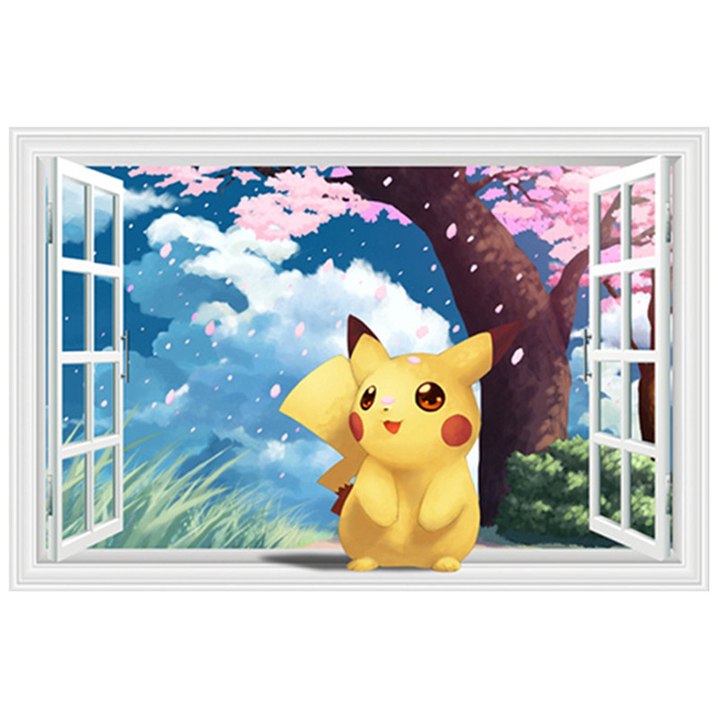 popular pokemon wall decals buy cheap pokemon wall decals lots from china pokemon wall decals. Black Bedroom Furniture Sets. Home Design Ideas