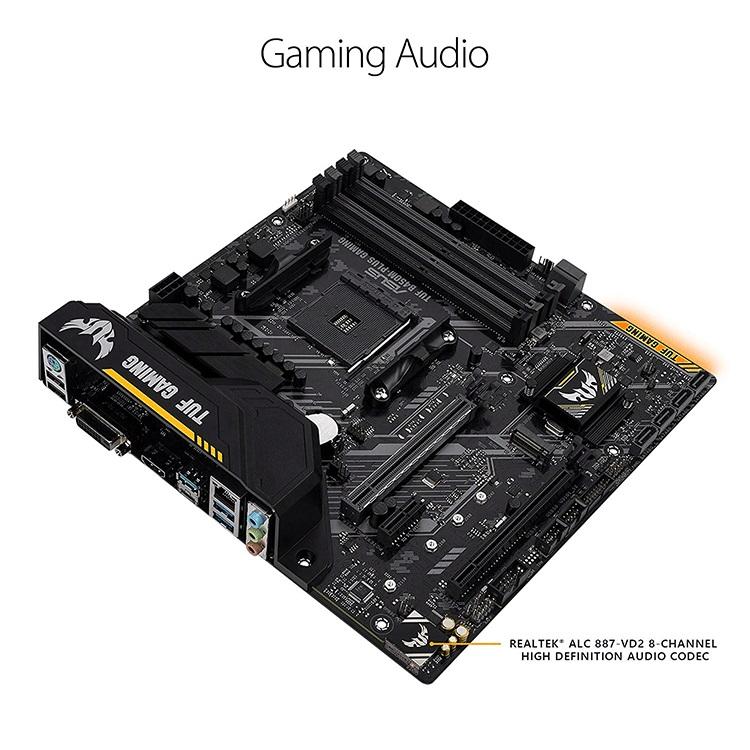 ASUS AMD Ryzen 64GB DDR4 mATX Gaming Motherboard for TUF B450M-PLUS GAMING