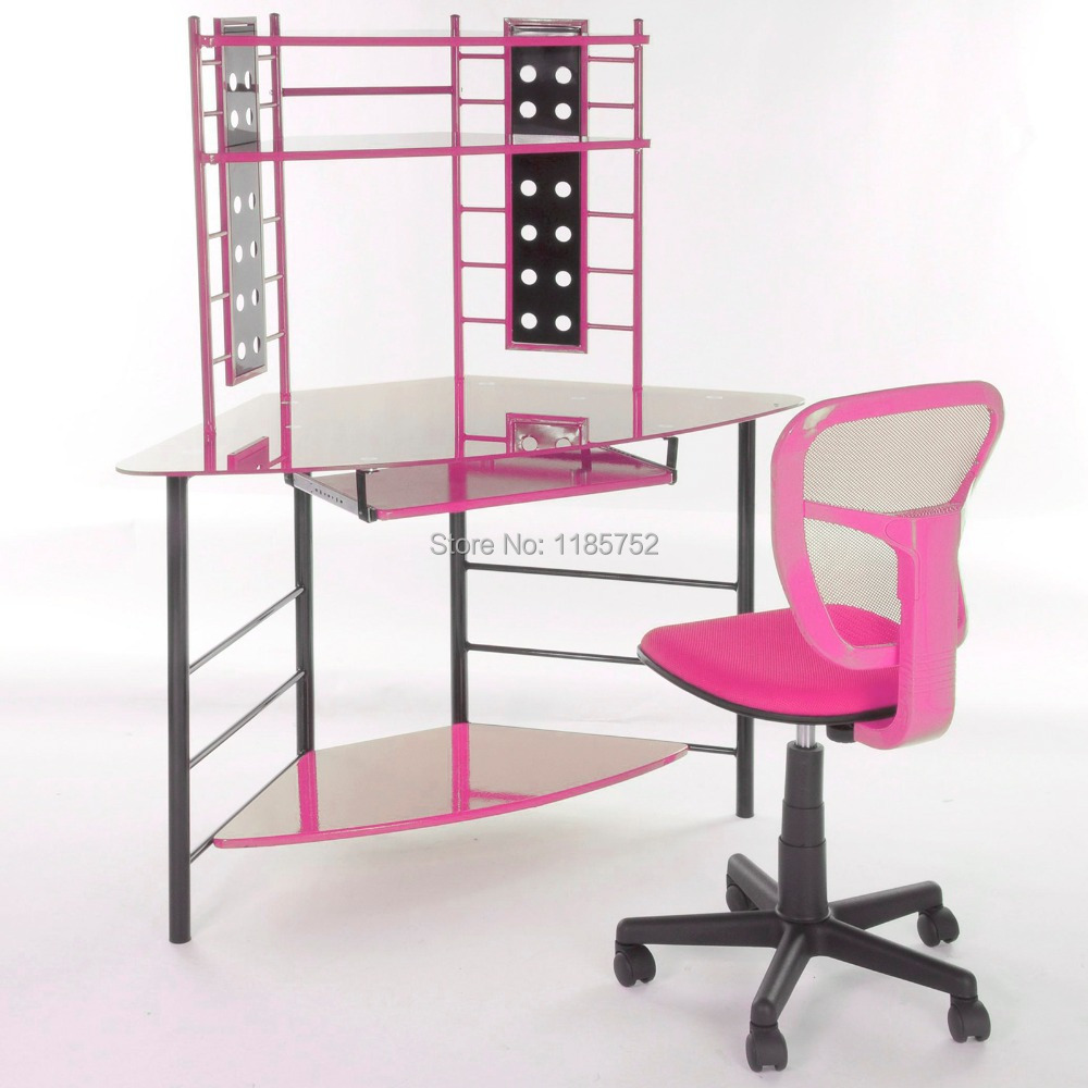 chaise bureau rose. Black Bedroom Furniture Sets. Home Design Ideas