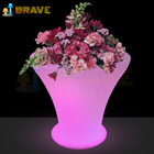 Flower Pot 2020 Best Selling Solar PE Plastic Waterproof Illuminated Lighted Planter LED RGB Flower Pot