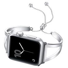 Ремешок для часов из нержавеющей стали для apple watch, 44 мм, 40 мм, correa aplle, 42 мм, 38 мм, iwatch series 4, 3, 2, 1, жемчужный наручный ремешок(Китай)