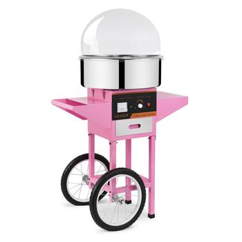 Electric Commercial Cotton Candy Machine Fairy Floss Maker w/ Cart and Cover
