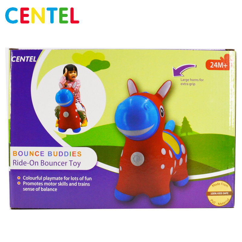 Multicolor PVC Inflatable donkey jumpy animal toys for gift